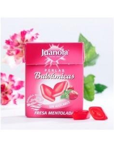 Juanola perlas balsámicas sabor fresa mentolada sin azucar 25 gramos