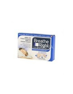 Breathe right tiras nasales clásicas 10 unidades grandes