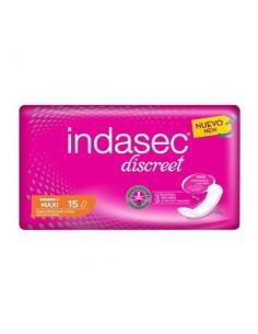 Indasec discreet compresa maxi 15 unidades