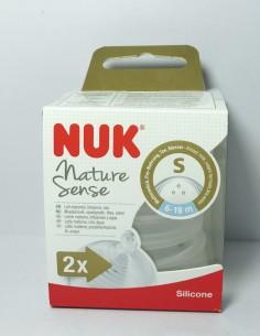 Nuk tetina Nature Sense silicona talla S 6-18 m 2 unidades