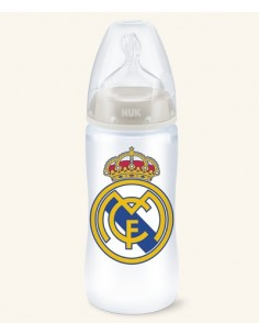 Nuk biberón REAL MADRID tetina silicona  6- 18 meses 300 ml
