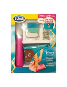 Dr. Scholl Velvet smooth lima electrónica rosa uñas pies y manos  + neceser