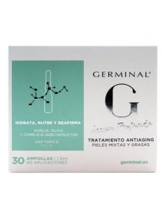 Germinal tratamiento antiaging pieles mixtas y grasas 30 ampollas