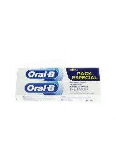 Oral b pack  repair encias y esmalte blanqueante 2 x 125 ml