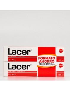 Lacer pasta dentífrica con flúor 2x125 ml