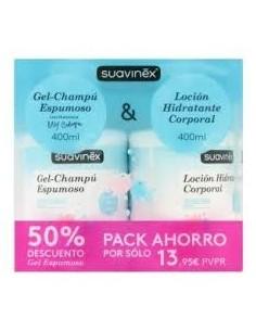 Suavinex pack gel-champú espumoso 400 ml + loción corporal 400 ml