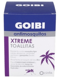 Goibi antimosquitos xtreme 16 toallitas