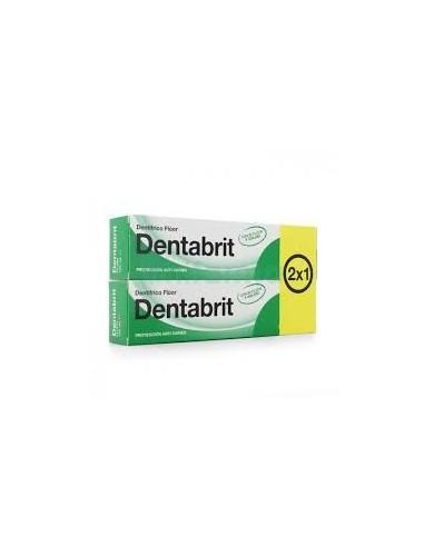 Dentabrit pasta dentífrica con flúor 2x125 ml